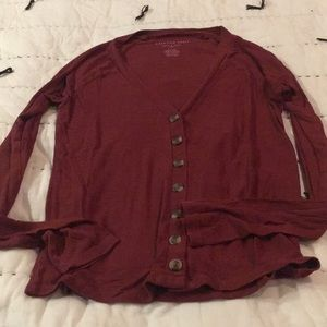 AEO Button Down Top